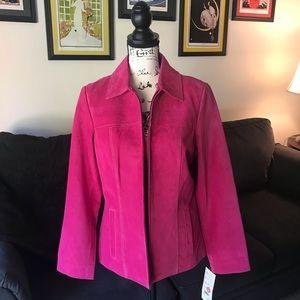 Bernardo Suede Jacket Pink NEW